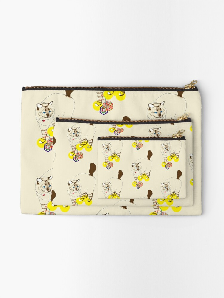 Alternate view of Eat . Play . Love Zipper Pouch