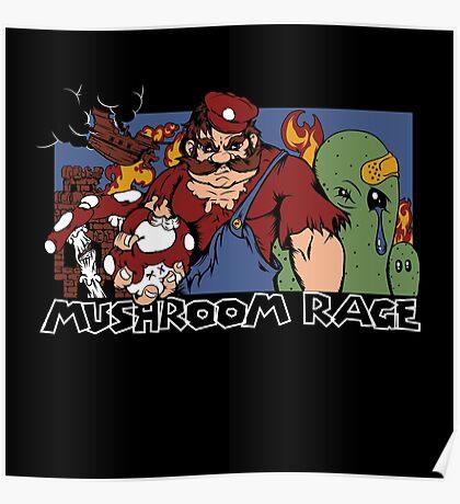 Mushroom Rage Poster