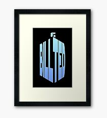 BILL AND TED - DOCTOR WHO Framed Print