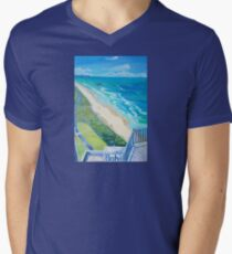 From Surfers Paradise the Gold Coast Queensland from High Surf Mens V-Neck T-Shirt