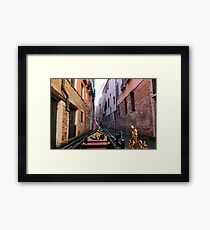 Between Brick Houses Framed Print