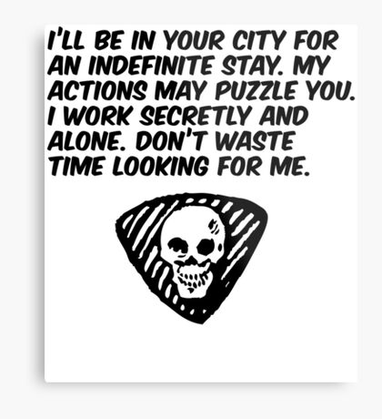 My Actions May Puzzle You Metal Print