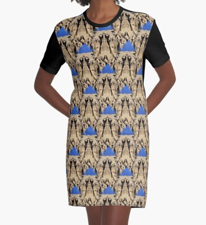 Patterns In Sand Abstract Graphic T-Shirt Dress