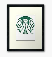 Starbucks Don't Blink Framed Print