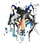 Watercolour Wolf by Total-Cult