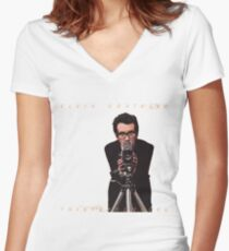 Elvis Costello Women's Fitted V-Neck T-Shirt