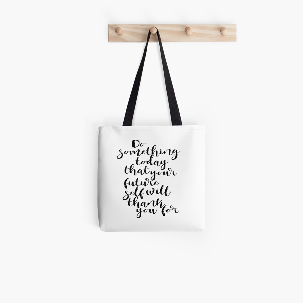 graphic regarding Printable Room Decor identified as Inspirational estimate Do A thing These days Dorm house decor Commencement present Motivational wall decor Printable Artwork rates Dwelling decor Tote Bag