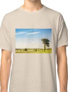 Rural grassland trees view Classic T-Shirt