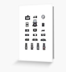 Cameras Collection Greeting Card