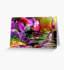 Flower Reflections Greeting Card