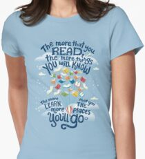 Go places Women's Fitted T-Shirt