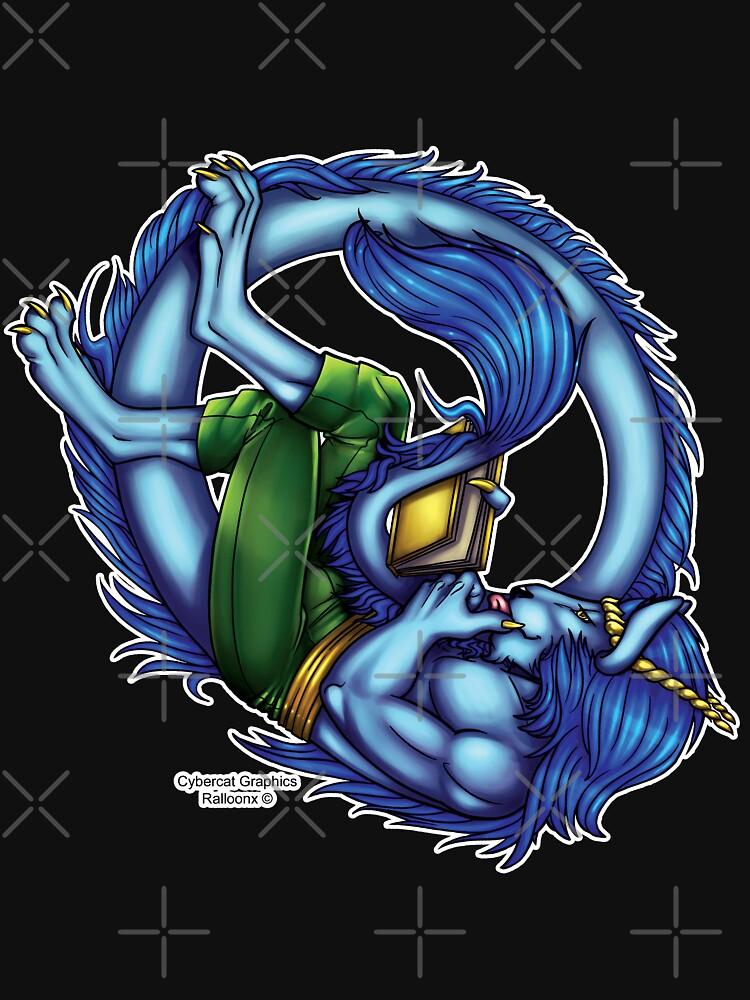 Book Dragon  by cybercat