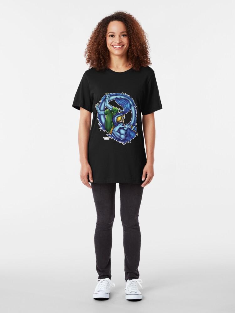 Alternate view of Book Dragon  Slim Fit T-Shirt
