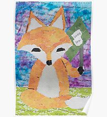 the quick red fox jumps over the lazy brown dog Poster