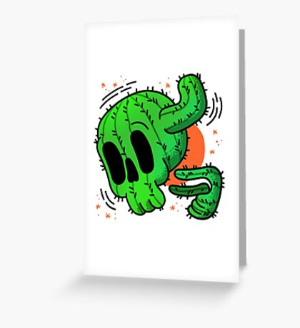 Cacskull Greeting Card