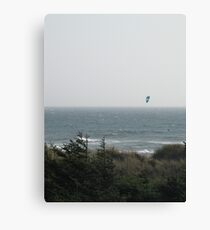 Kite Boarding On the Pacific Ocean Canvas Print