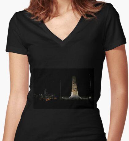 Lunar Eclipse - Perth, Western Australia Women's Fitted V-Neck T-Shirt