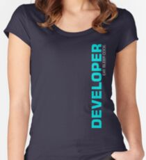 Eat Sleep Code Repeat Developer Programmer Women's Fitted Scoop T-Shirt
