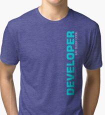Eat Sleep Code Repeat Developer Programmer Tri-blend T-Shirt