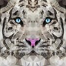 abstract white tiger by Ancello