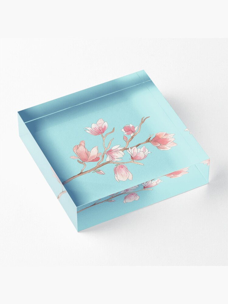 Alternate view of Watercolour Magnolia Acrylic Block