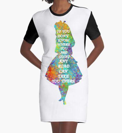 Alicia en el país de las maravillas - Cita - Acuarela colorida Vestido camiseta