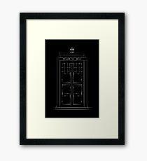 Doctor Who, Tardis (B&W) Framed Print