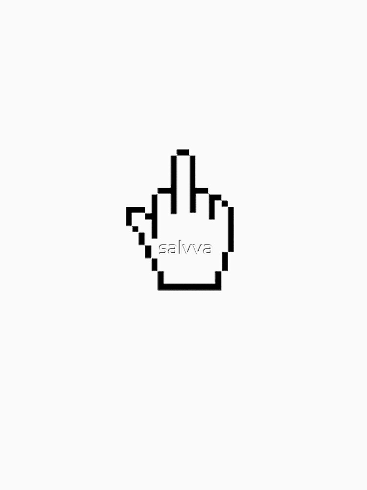 pixel middle finger by salvva