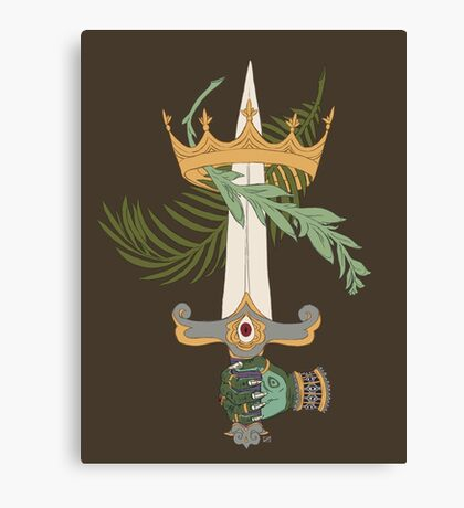 Ace of Swords Canvas Print