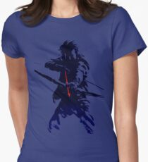 blue arrow Women's Fitted T-Shirt