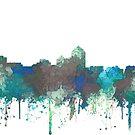 Albuquerque Skyline - Dschungel Blues und Grünen von Marlene Watson