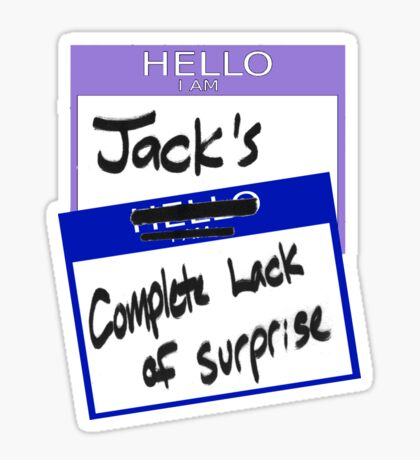 "Fight Club: ""I AM JACK'S COMPLETE LACK OF SURPRISE"" Sticker"