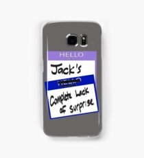 "Fight Club: ""I AM JACK'S COMPLETE LACK OF SURPRISE"" Samsung Galaxy Case/Skin"