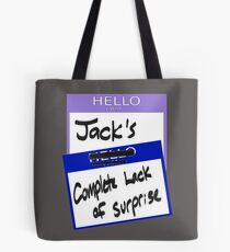 "Fight Club: ""I AM JACK'S COMPLETE LACK OF SURPRISE"" Tote Bag"