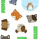 Puppies vs Kittens - Sticker Sheet by 55INCH