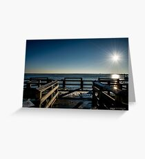 Sunrise Above The Fishing Pier   Wantagh, New York Greeting Card