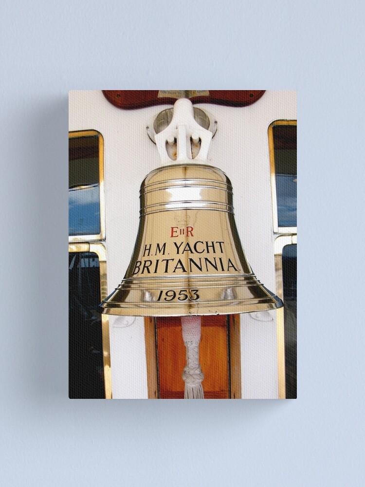 Alternate view of Ship's Bell, Royal Yacht Britannia Canvas Print