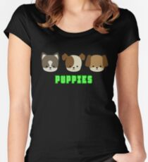 Puppies Women's Fitted Scoop T-Shirt