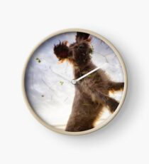 Brown Roan Italian Spinone Dog in Action Clock