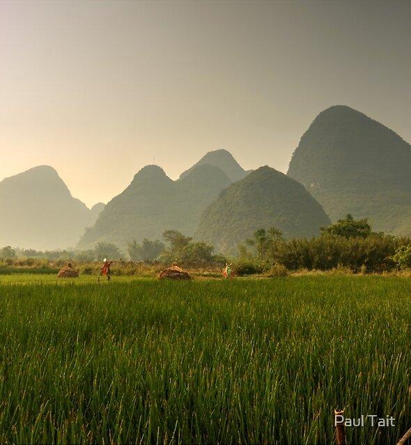 Cycling near Yangshuo by Paul Tait