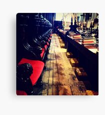Along the choir stalls, Lincoln Cathedral Canvas Print