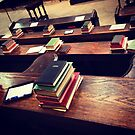 Books, Choir stalls, Lincoln Cathedral by Robert Steadman