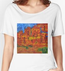 032 Abstract Landscape Women's Relaxed Fit T-Shirt