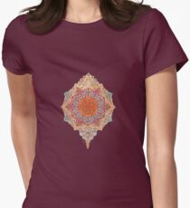 Hippie flower charm Womens Fitted T-Shirt