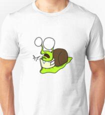 snail in a neck brace Unisex T-Shirt