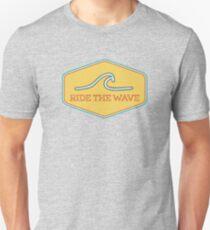 Ride the Wave - Vintage Surf Sticker T-Shirt