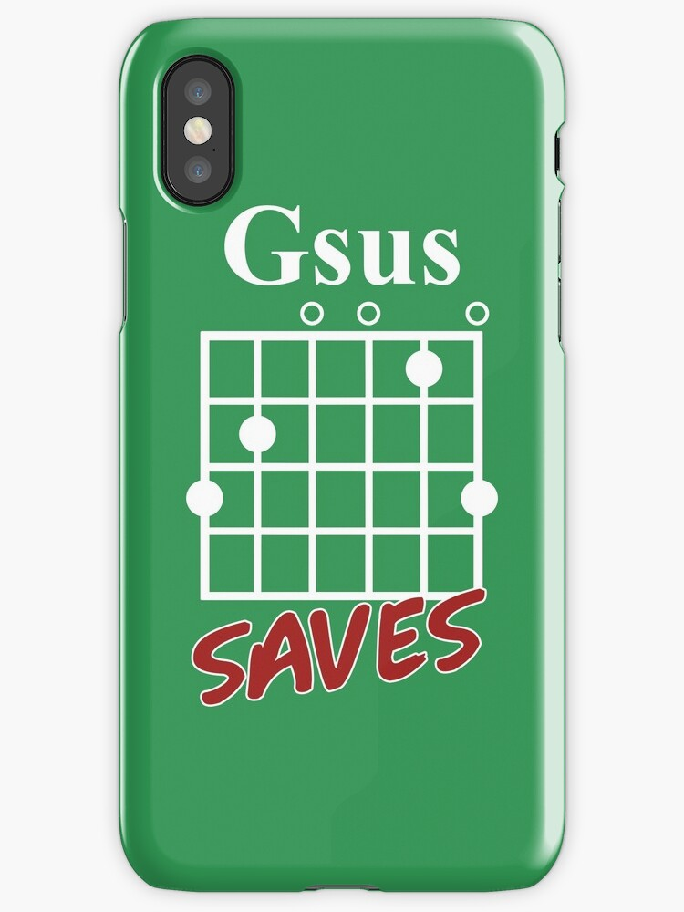 Gsus Saves Chord T-Shirt, Funny Guitar Lover Gift\
