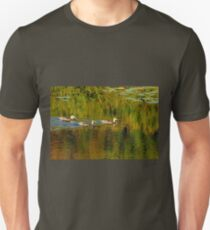 Autumn Feathers And Rippled Reflections T-Shirt