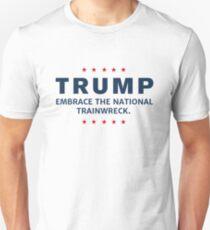 Ant-Trump National Trainwreck Stars Border Unisex T-Shirt