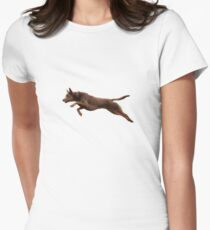 Kelpie Leaping Womens Fitted T-Shirt